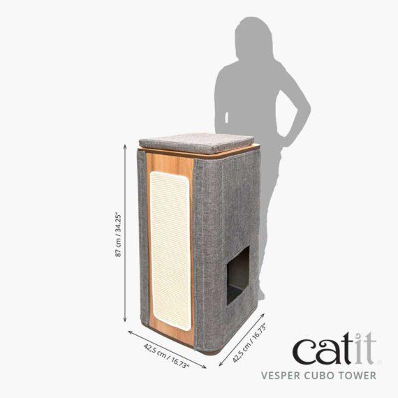 Catit Vesper Cubo Tower – Mediciones