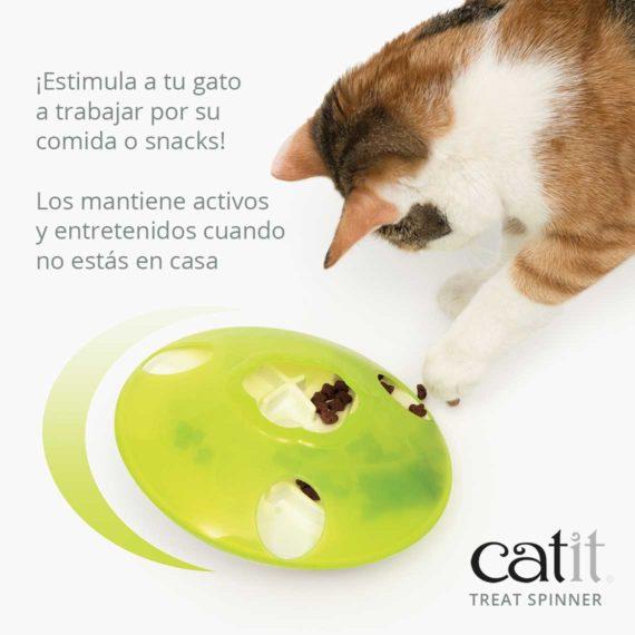 Catit Treat Spinner - ¡Estimula a tu gato a trabajar por su comida o snacks! Los mantiene activos y entretenidos cuando no estás en casa