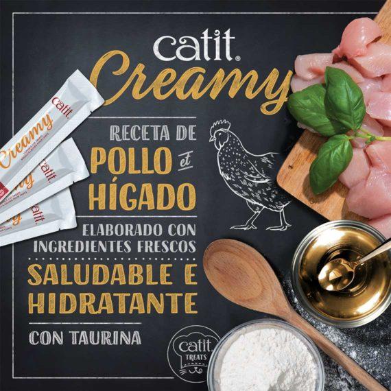 Catit Creamy - Chicken & Liver made with fresh ingredients