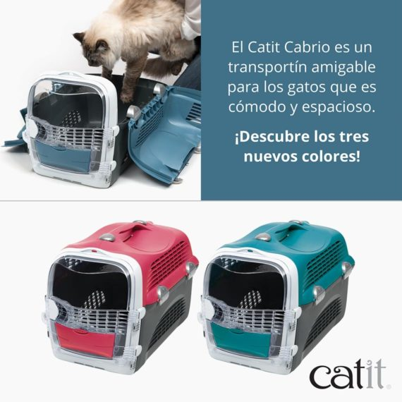 El Catit Cabrio es un transportín amigable para los gatos que es cómodo y espacioso