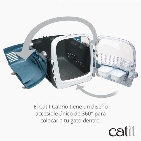 El Catit Cabrio tiene un diseño accesible único de 360° para colocar a tu gato dentro