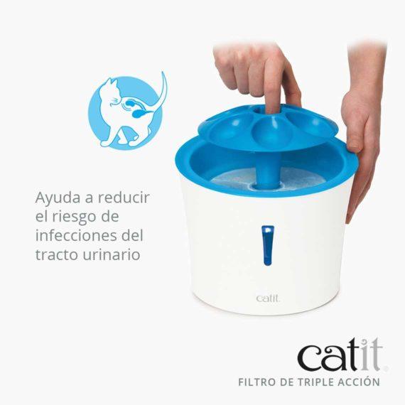 Catit Filtro de triple acción - Ayuda a reducir el riesgo de infecciones del tracto urinaro