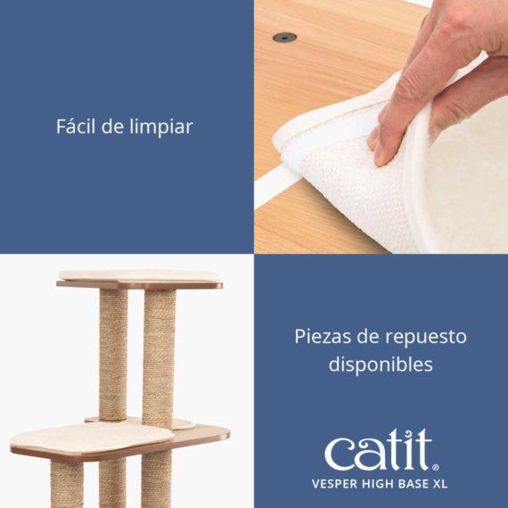Catit Vesper High Base XL - Fácil de limpiar y piezas de repuesto disponibles