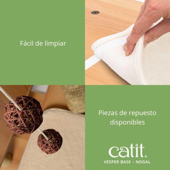 Catit Vesper Base - Fácil de limpiar y piezas de repuesto disponibles