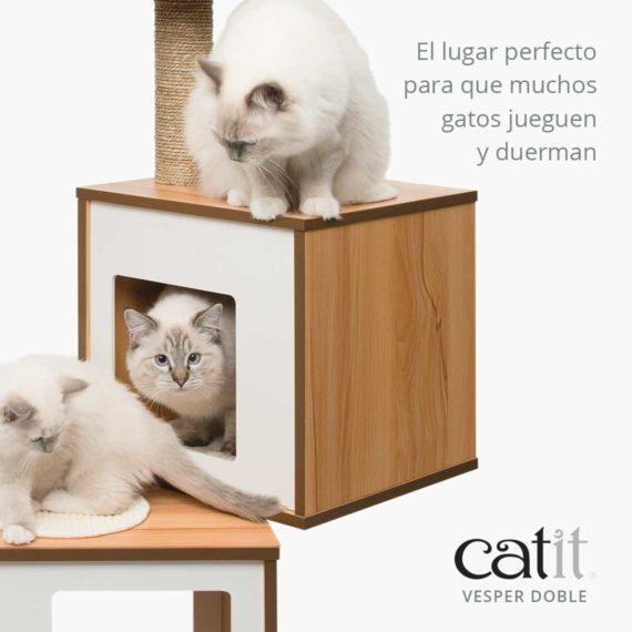 Catit Vesper Doble - El lugar perfecto para que muchos gatos jueguen y duerman
