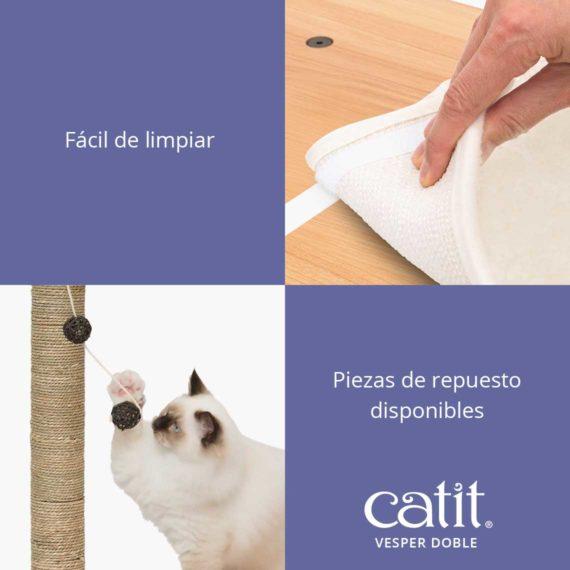 Catit Vesper Doble - Fácil de limpiar y piezas de repuesto disponibles