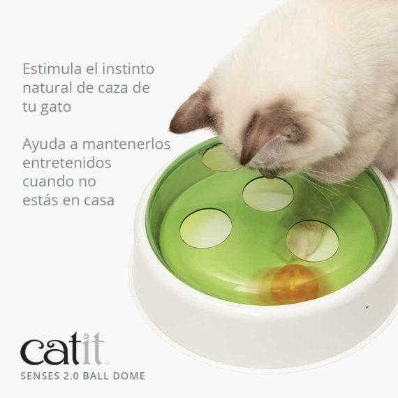 Catit Senses 2.0 Ball Dome - Estimula el instinto natural de caza de tu gato. Ayuda a mantenerlos entretenidos cuando no estás en casa
