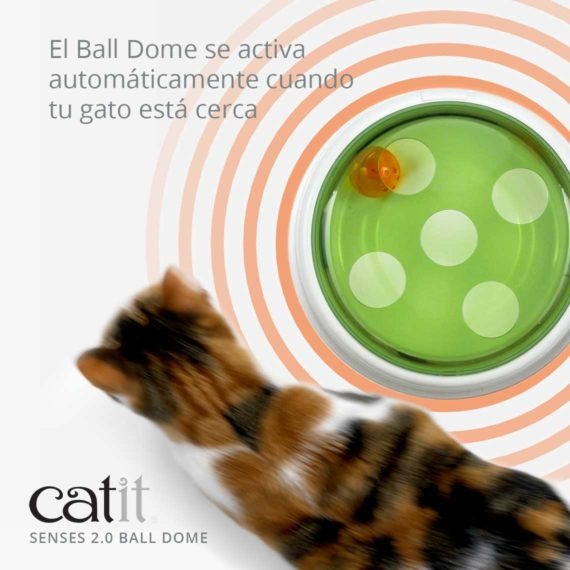 Catit Senses 2.0 Ball Dome - El Ball Dome se activa automáticamente cuando tu gato está cerca