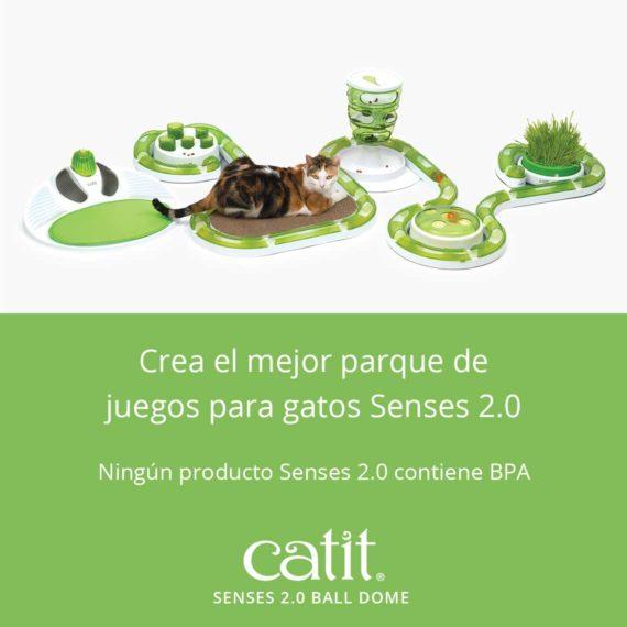 Catit Senses 2.0 Ball Dome - Crea el mejor parque de juegos para gatos Senses 2.0. Ningún producto Senses 2.0 contiene BPA