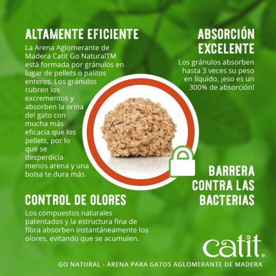 Altamente eficiente, absorción excelente, control de olores y barrera contra las bacterias