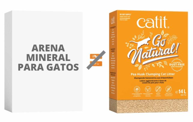 No compares arenas minerales para gatos con arenas para gatos ligeras