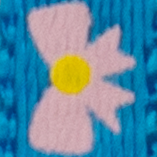 Azul con lazos rosados
