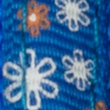 Azul con flores pequeñas