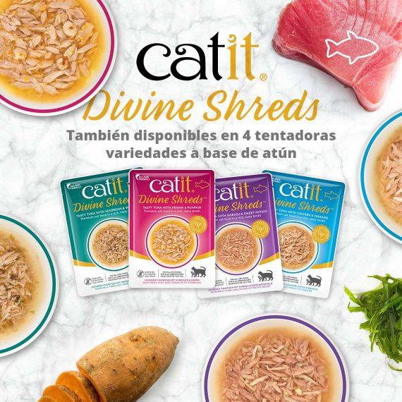 Catit Divine Shreds - Pollo - También disponibles en 4 tentadoras variedades a base de atún