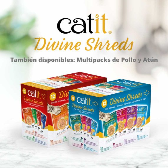 Catit Divine Shreds - Pollo - También disponibles: Multipacks de Pollo y Atún
