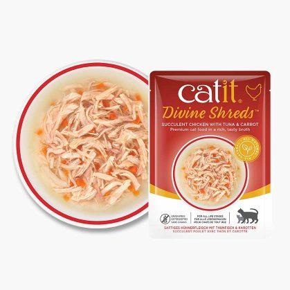 Catit Divine Shreds - Pollo con Atún y Zanahoria