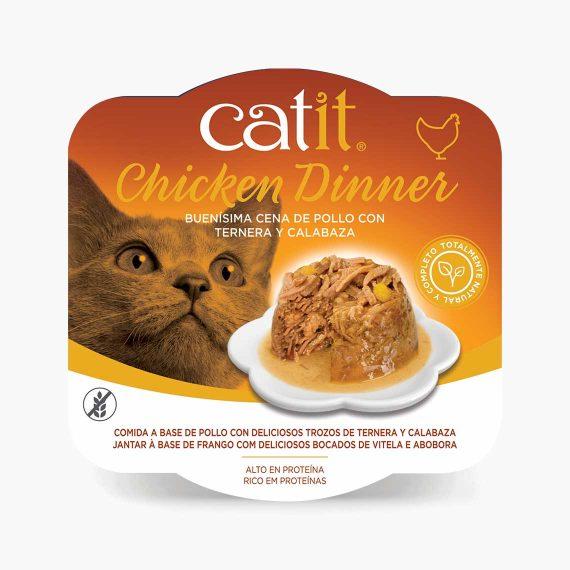 44703 - Catit Dinner de Pollo con Ternera y Calabaza