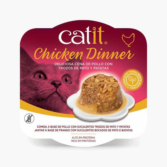 44701 - Catit Dinner de Pollo con Pato y Patatas
