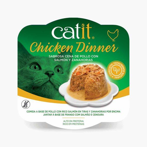 44702 - Catit Dinner de Pollo con Salmón y Zanahorias