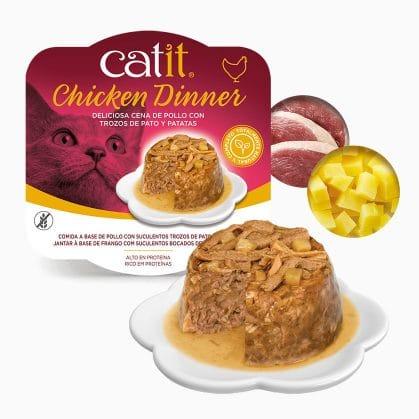 Catit Dinner de Pollo con Pato y Patatas