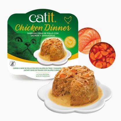 Catit Dinner de Pollo con Salmón y Zanahorias