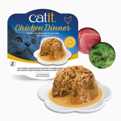Catit Dinner de Pollo con Atún y Kale