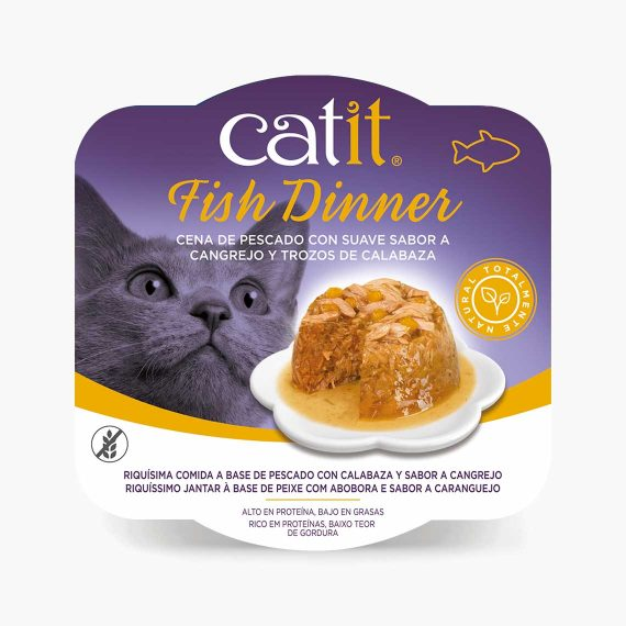 44716 - Catit Dinner de Pescado con Sabor a Cangrejo y Calabaza