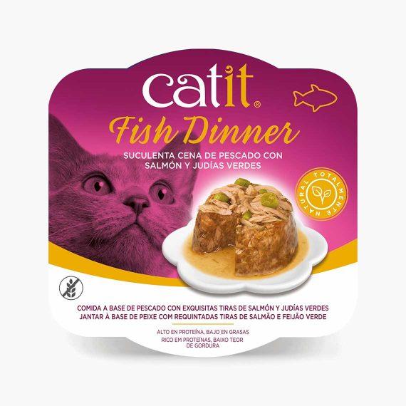 44712 - Catit Dinner de Pescado con Salmón y Judías Verdes