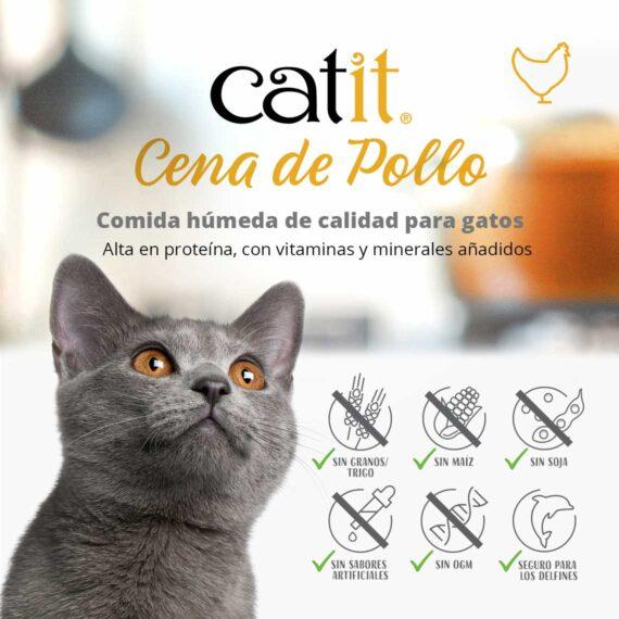 Catit Cena de Pollo - Comida húmeda de calidad para gatos