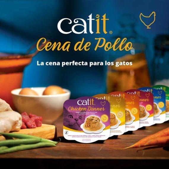 Catit Cena de Pollo - La cena perfecta para los gatos