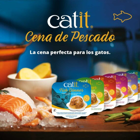 Catit Cena de Pescado - La cena perfecta para los gatos