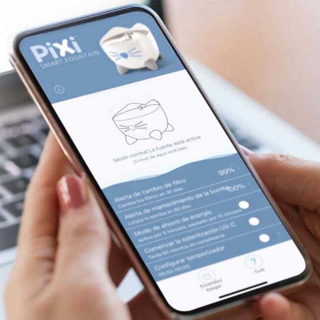 Con la práctica aplicación PIXI, puedes controlar las muchas funciones inteligentes
